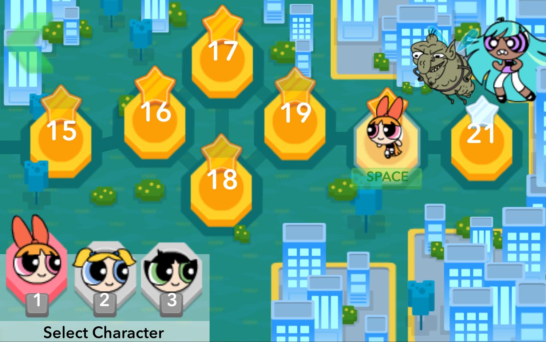 Powerpuff Girls Hypno Bliss City Chase Screenshot.