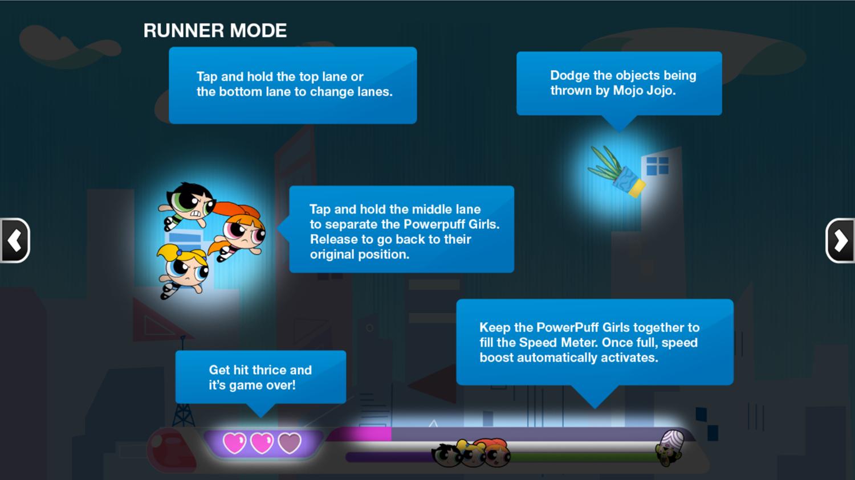 Powerpuff Girls Mojo Mayhem Flying Instructions Screenshot.
