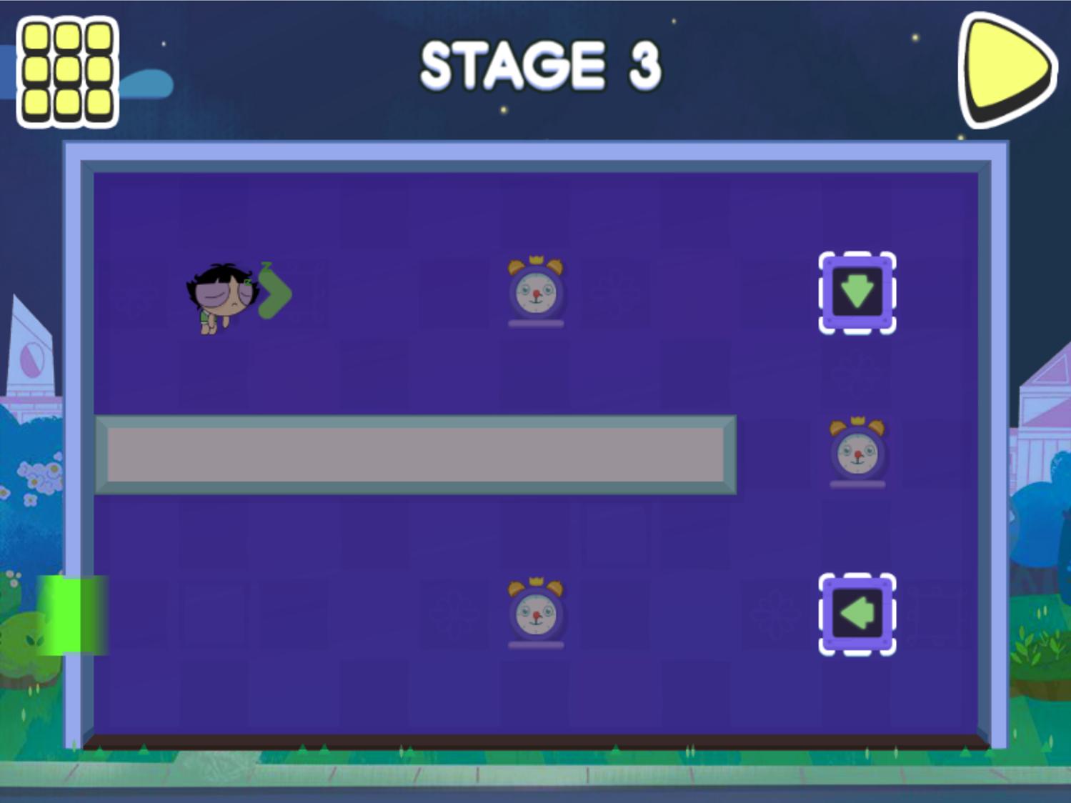Powerpuff Girls Morning Mayhem Gameplay Screenshot.