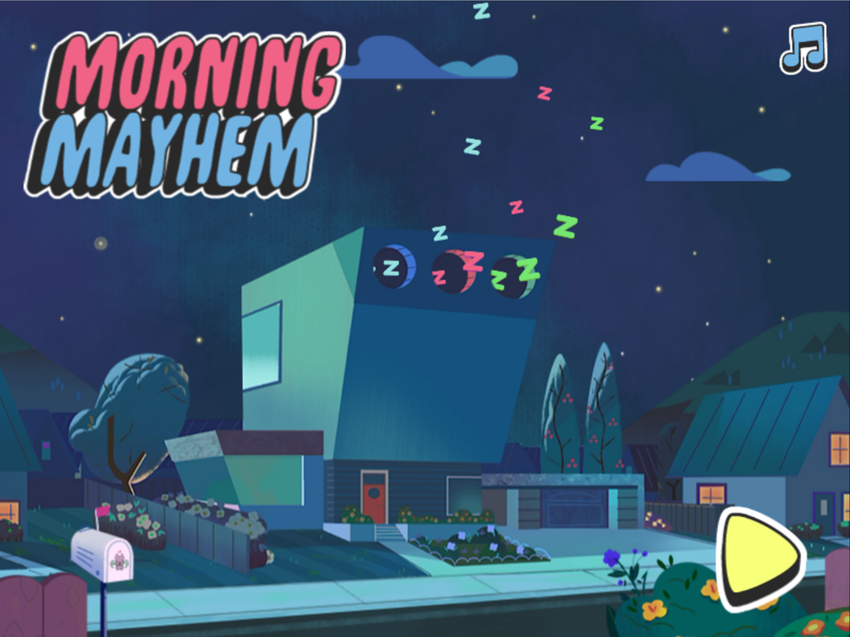 Powerpuff Girls Morning Mayhem Welcome Screen Screenshot.