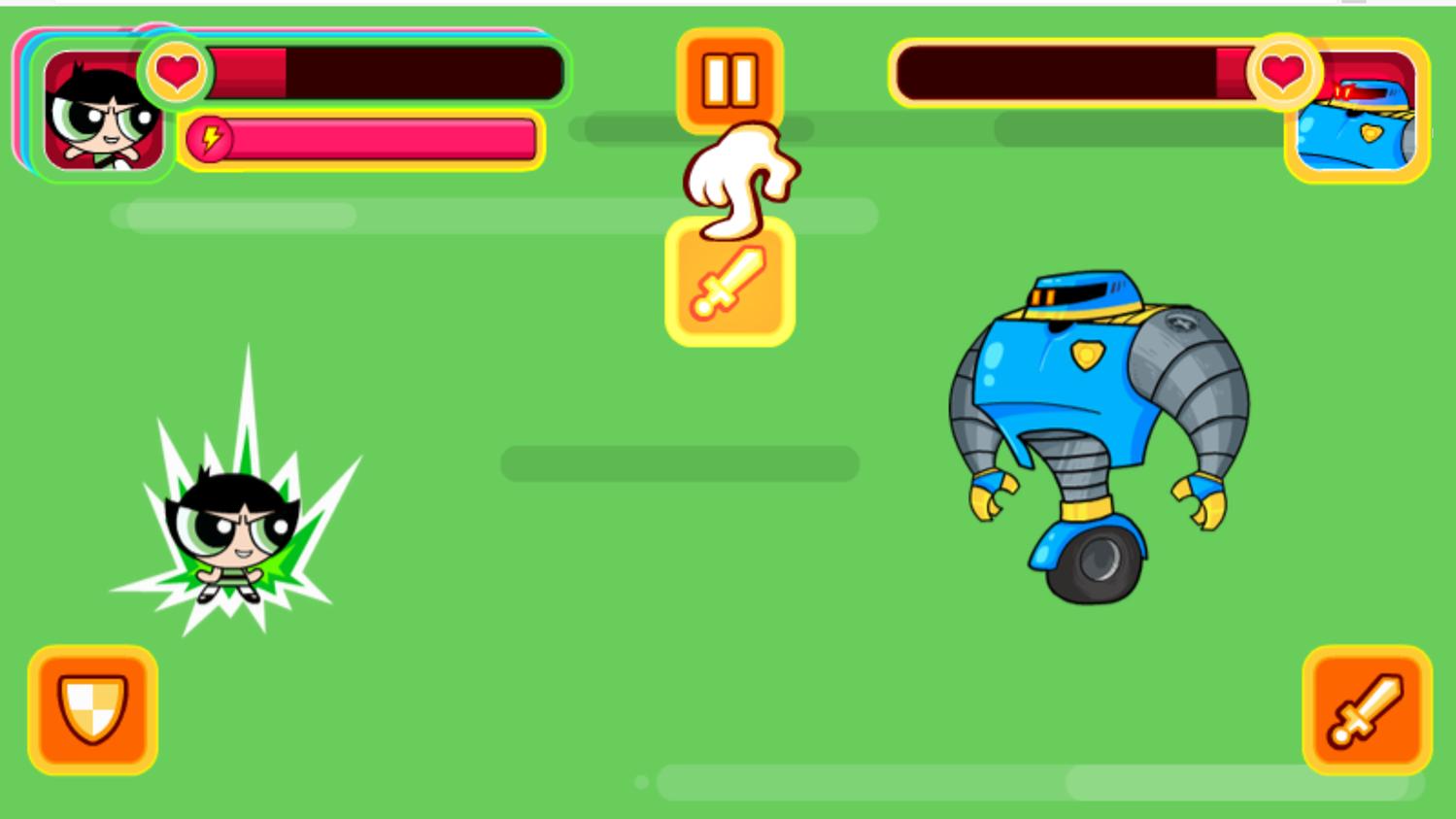 Powerpuff Unordinary Week Power Attack Screenshot.