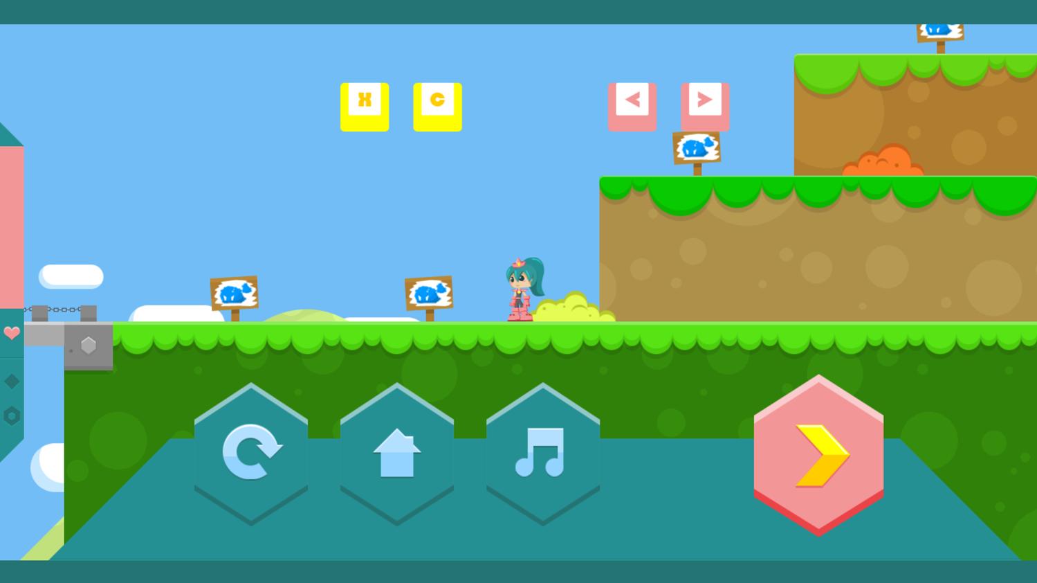 Princess Goldblade Game Paused Screenshot.