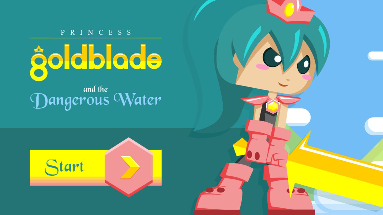 Princess Goldblade Game Welcome Screenshot.