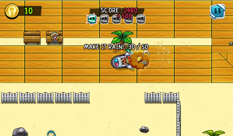 Psycho Beach Mummies Game Screenshot.