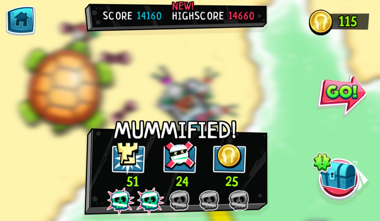 Psycho Beach Mummies Game Result Screenshot.
