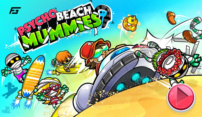 Psycho Beach Mummies Game Welcome Screen Screenshot.