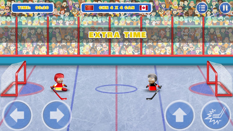 Puppet Hockey Battle Game Screenshot.
