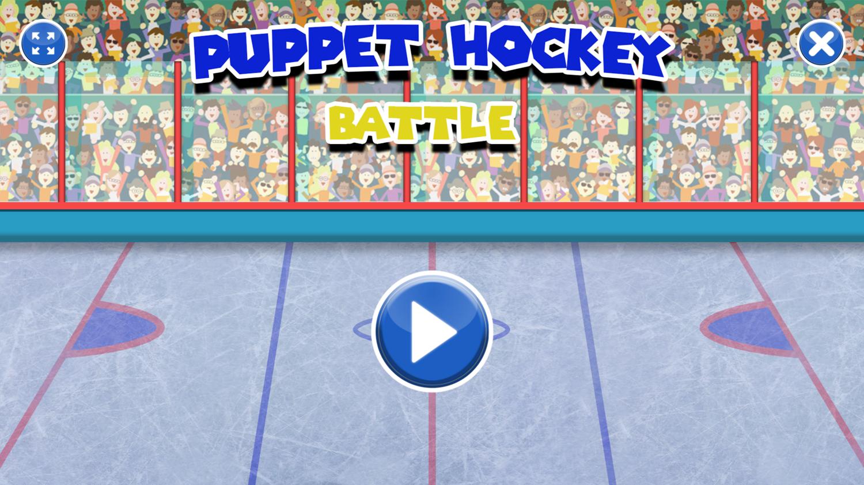 Puppet Hockey Battle Welcome Screen Screenshot.