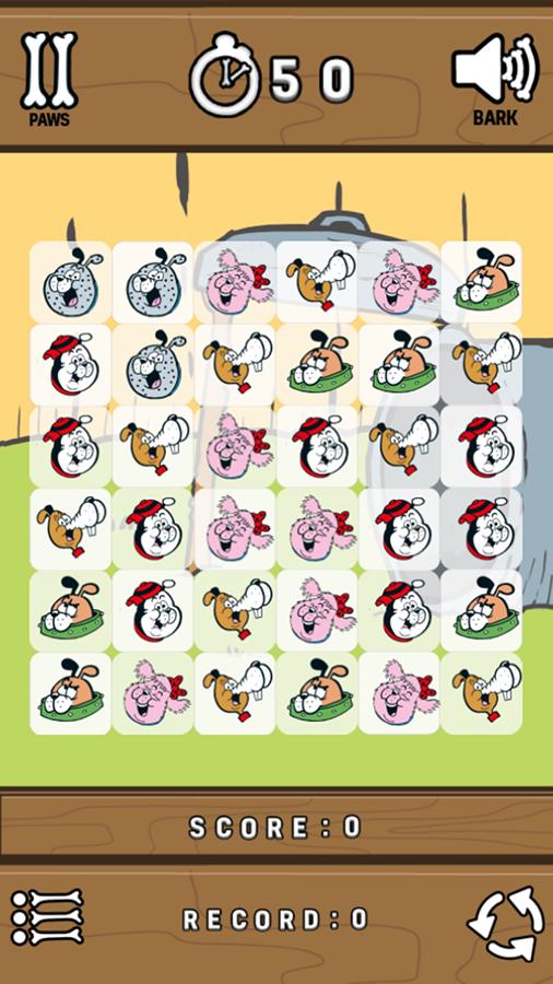 Puppy Pile Up Game Start Screenshot.