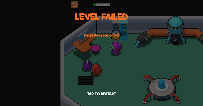 Red Imposter Vs Crew Game Screenshot.