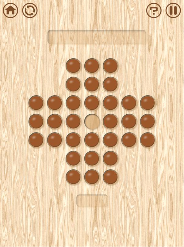 Resta Um Peg Solitaire New Board Game Screenshot.