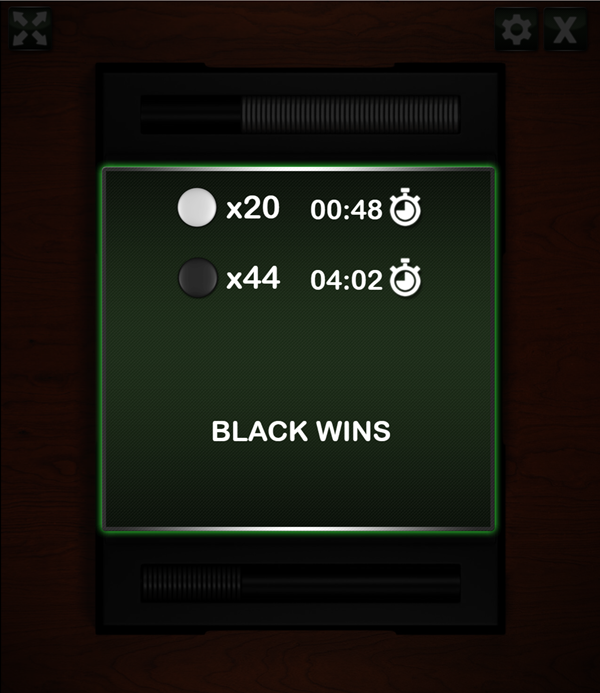 Reversi You Win Screenshot.