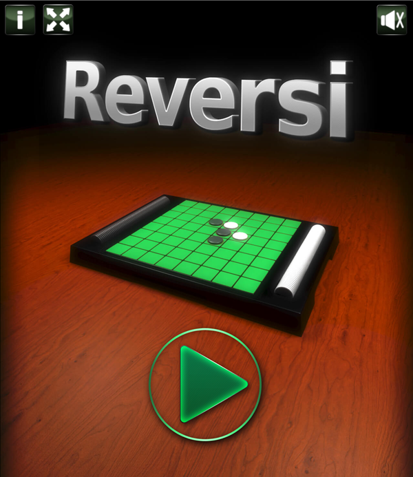 Reversi Game Welcome Screenshot.