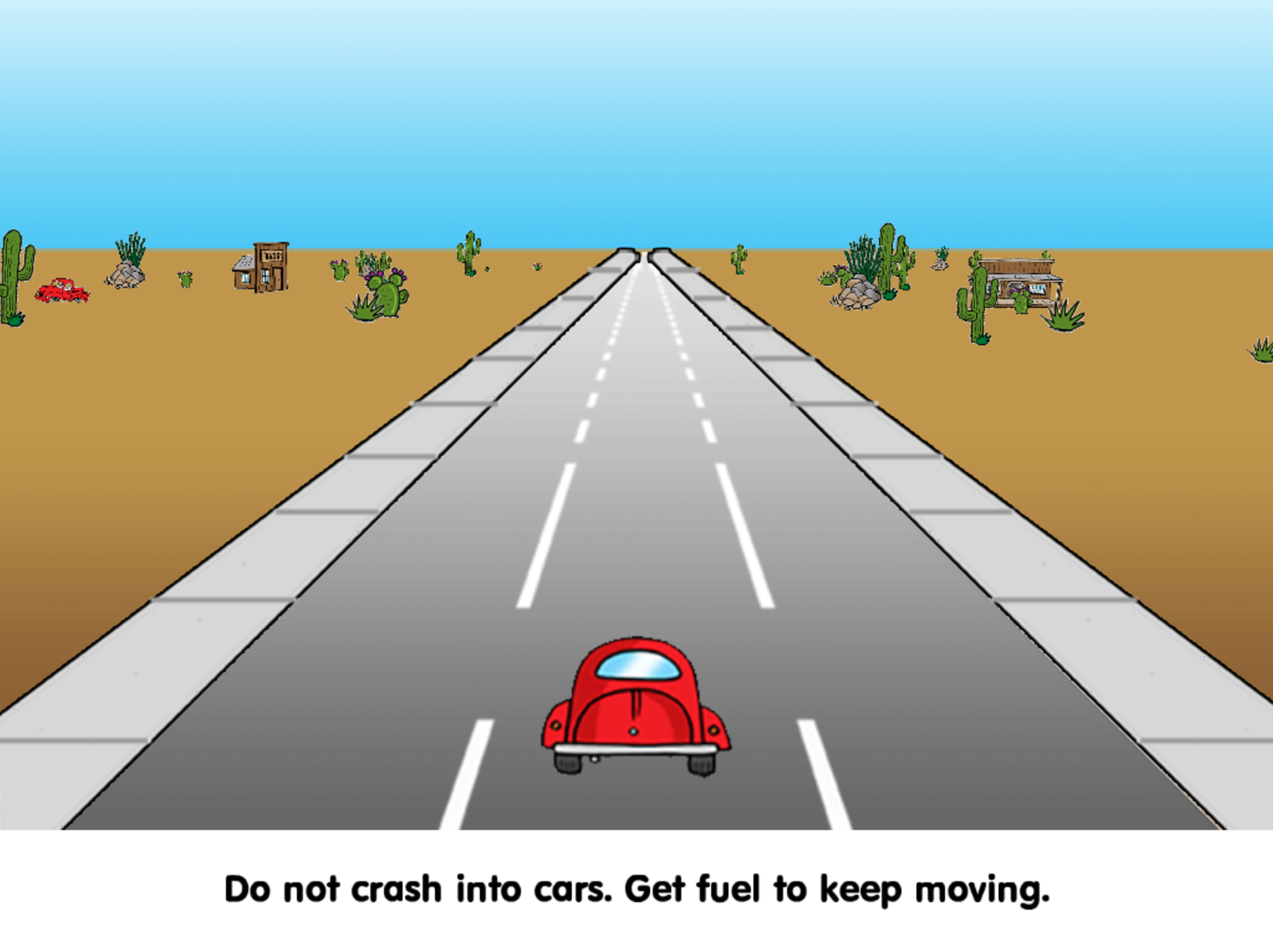 Road Rally Fuel & Coin Instructions Screenshot.