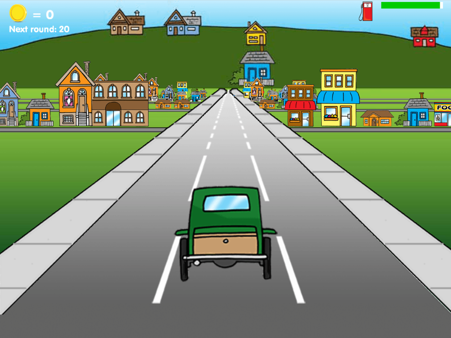 Road Rally Game Old Fashioned Screenshot.