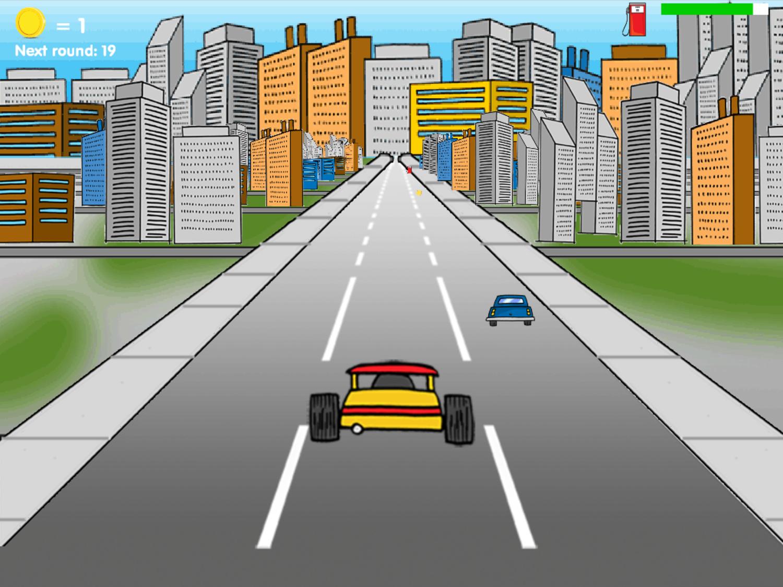 Road Rally Game Racecar Screenshot.