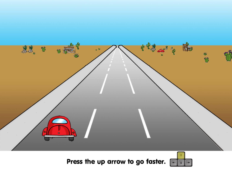 Road Rally Speeding Up Instructions Screenshot.