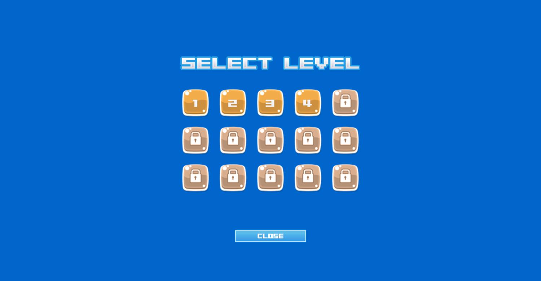 Robo Escape Level Select Screenshot.
