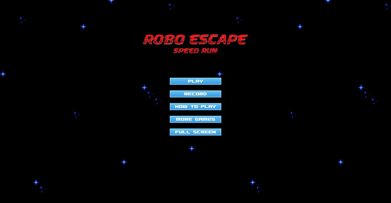 Robo Escape Welcome Screen Screenshot.