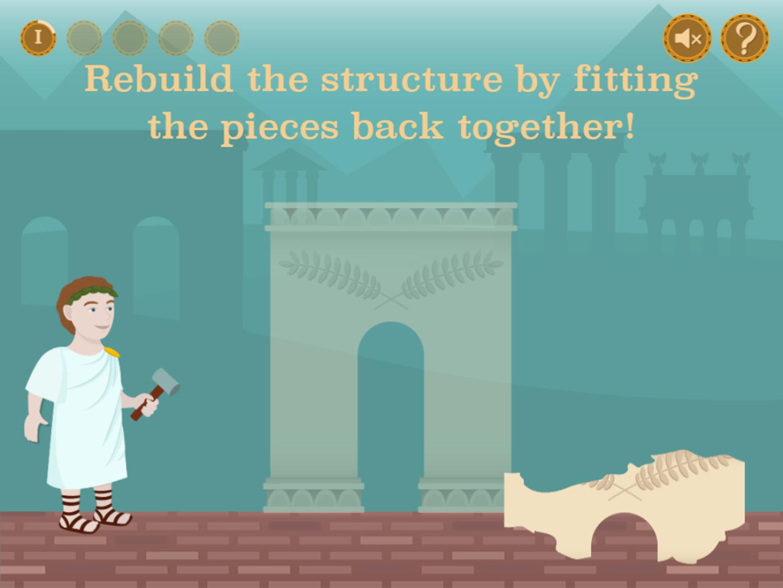 Roman Numerals Game Rebuild Structure Screenshot.