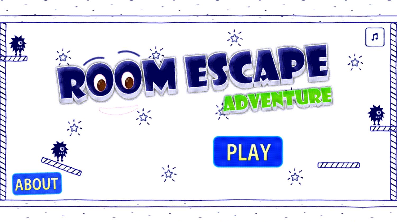 Room Escape Adventure Game Welcome Screen Screenshot.