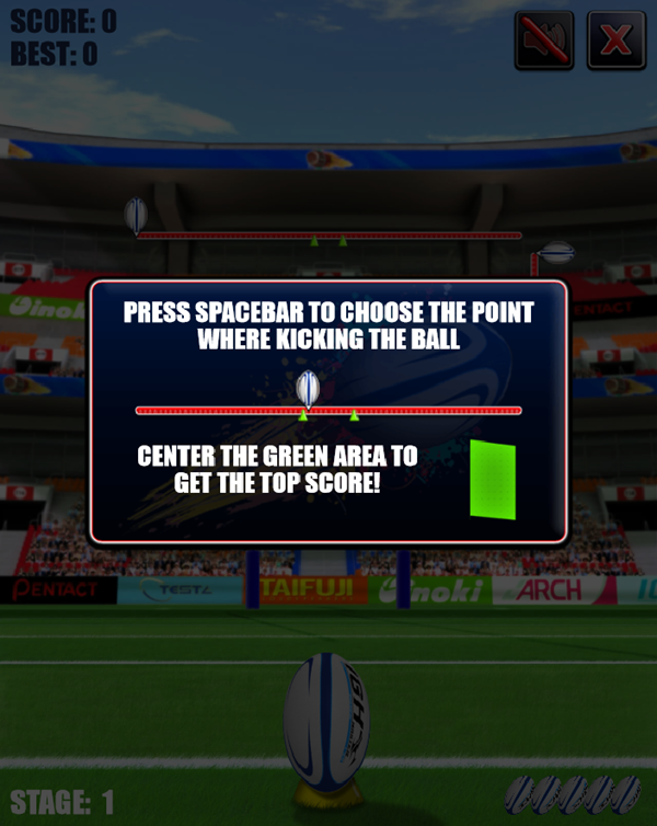 Rugby Kicks Game How To Play Screenshot.