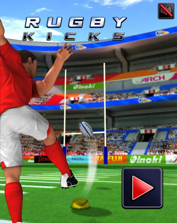 Rugby Kicks Game Welcome Screen Screenshot.