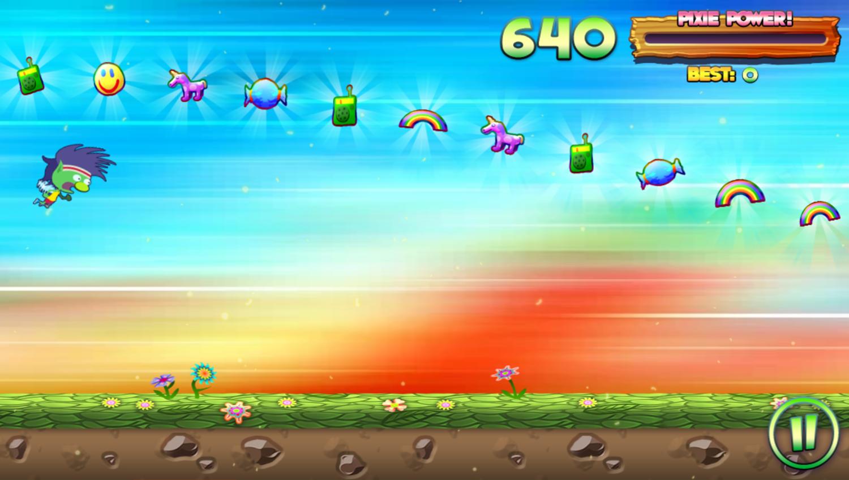 Run Pixie Run Game Bonus Mode Screenshot.