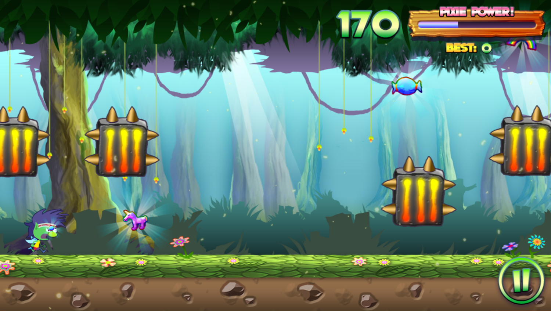 Run Pixie Run Game Play Screenshot.