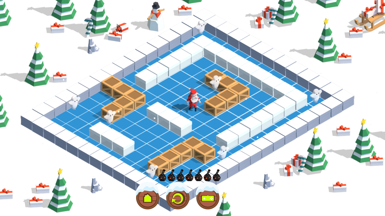 Santa Bomber 3D Game Screenshot.