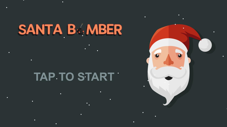 Santa Bomber 3D Welcome Screen Screenshot.