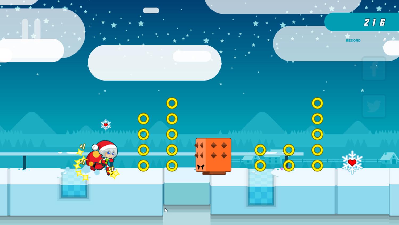 Santa Girl Runner Game Screenshot.