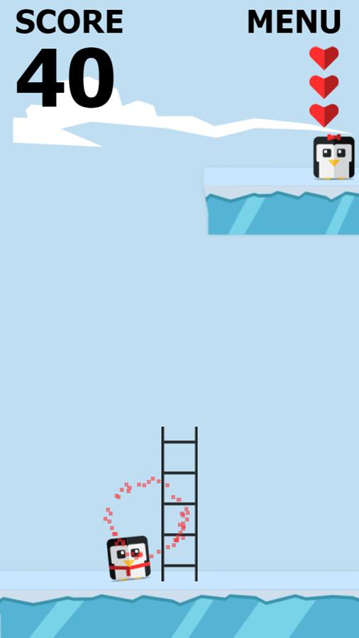 Save the Penguin Game Play Screenshot.
