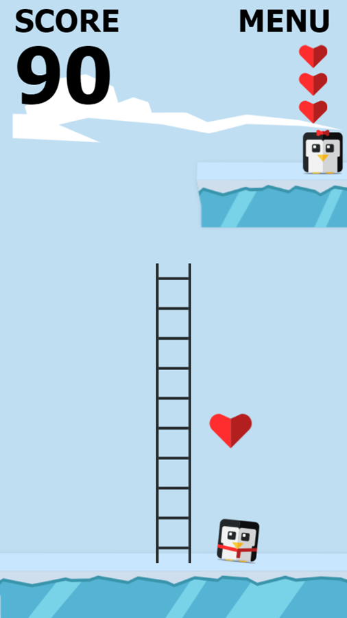 Save the Penguin Game Get Hearts Screenshot.