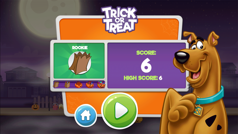 Scoobtober Trick or Treat Result Screenshot.