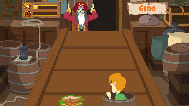 Scooby Doo Barrel of Treats Game Screenshot.