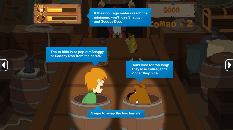 Scooby Doo Barrel of Treats How to Play Instructions Screenshot.