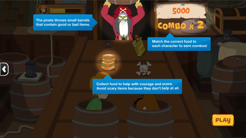Scooby Doo Barrel of Treats Scoring Screenshot.
