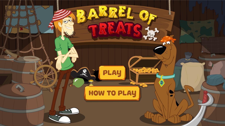 Scooby Doo Barrel of Treats Welcome Screen Screenshot.