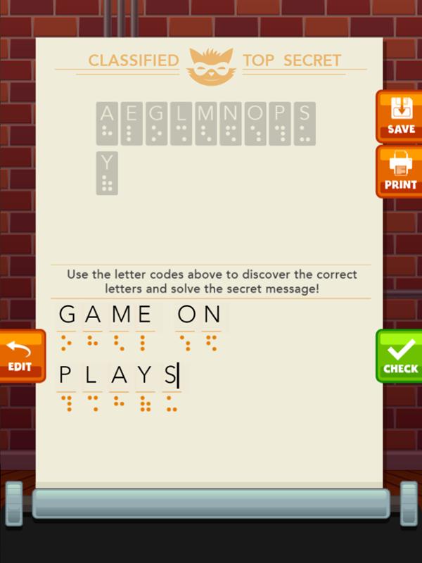 Secret Message Maker Game Decoding Complete Screenshot.