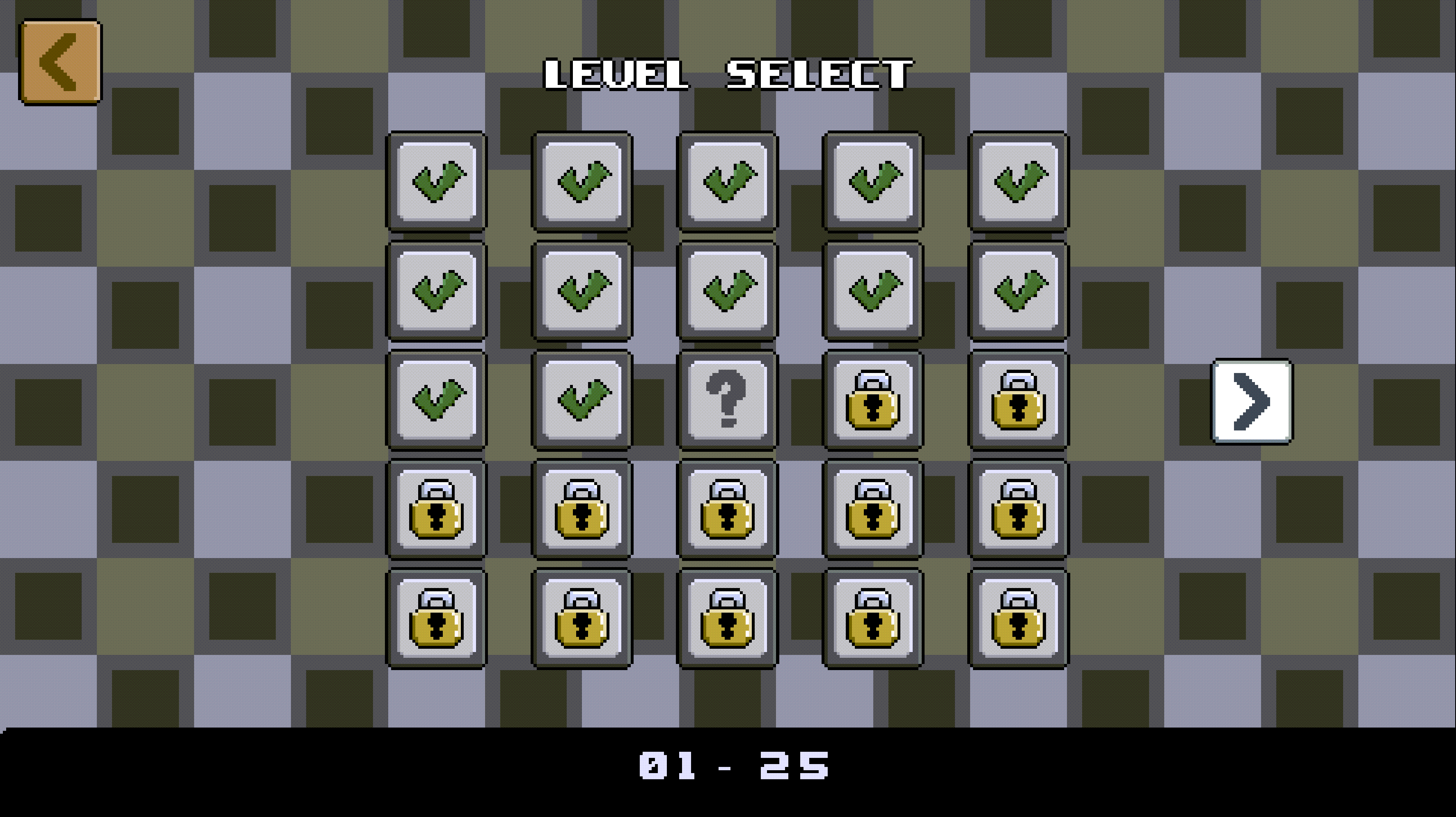 Shadoworld Adventure Level Select Screenshot.