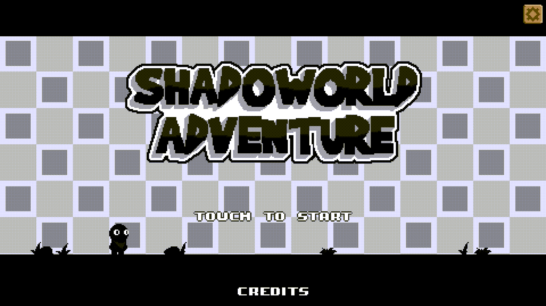 Shadoworld Adventure Welcome Screen Screenshot.