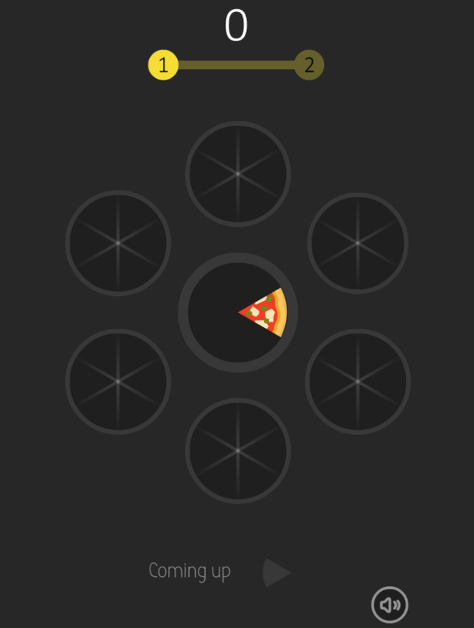 Slices Game Welcome Screenshot.