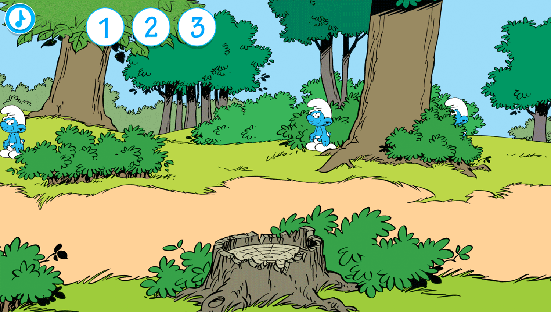 Smurfs Counting Game Screenshot.
