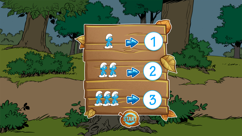 Smurfs Counting Instruction Screenshot.
