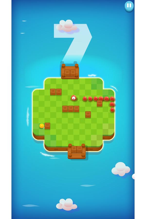 Snakeland Game Screenshot.