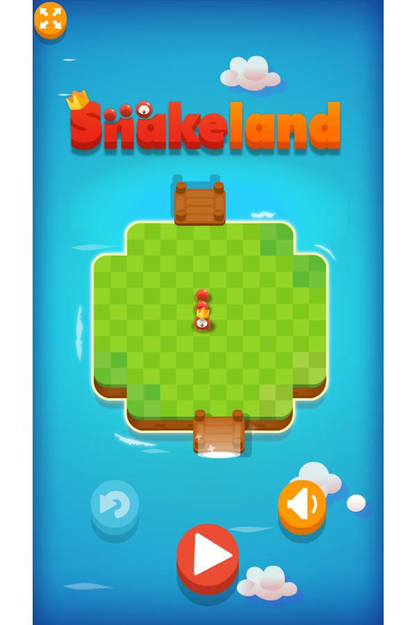 Snakeland Game Welcome Screenshot.