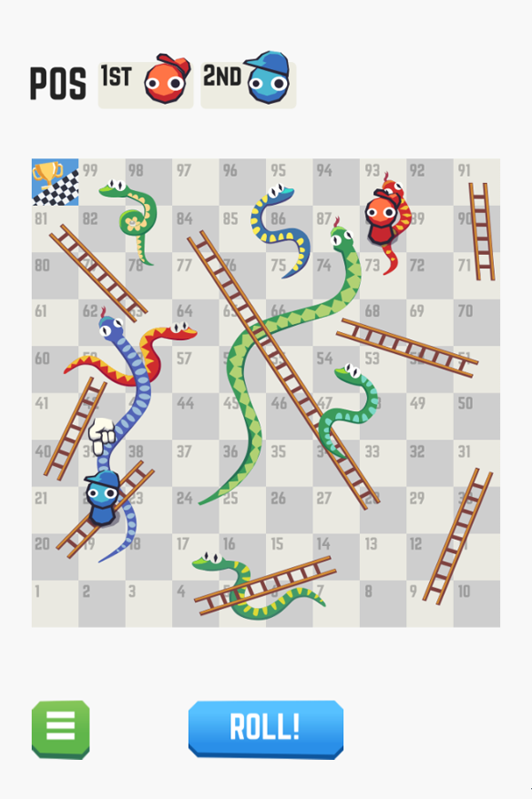Snakes and Ladders Game Screenshot.