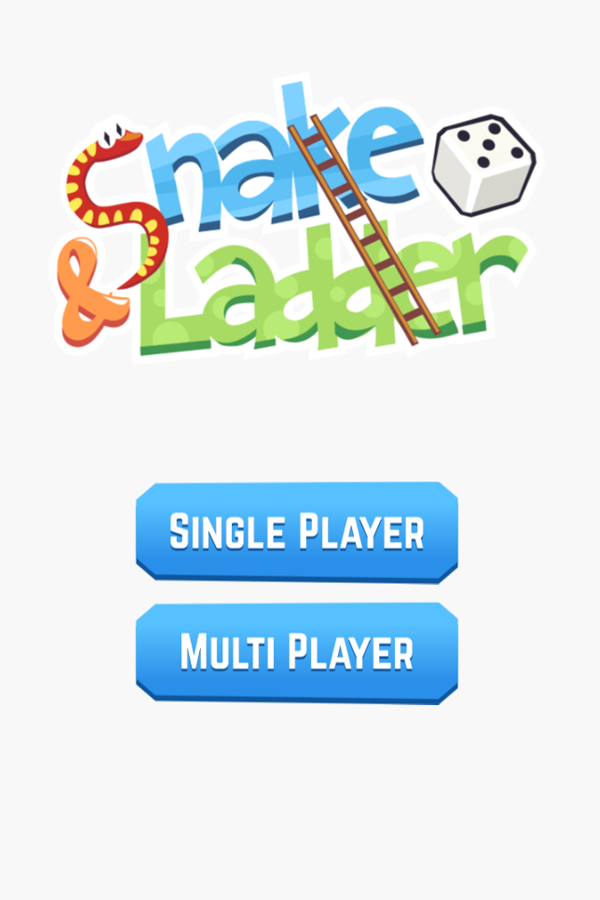 Snakes and Ladders Welcome Screen Screenshot.
