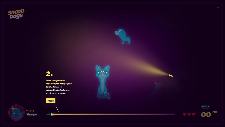 Snoop Dogs Game Instruction Screenshot.